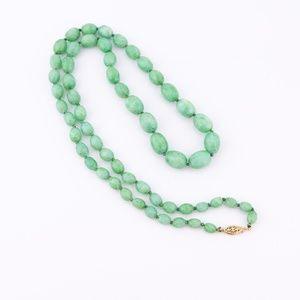 Medium Green Stone Beaded Necklace